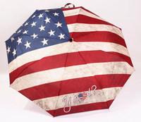 2014 free shipping retro color american flag/ british flag/ norwegian flag automatic three folding umbrella Rechar021