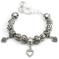 PA1337 925 silver bracelets For women, Free shipping! Top selling, charm beads bracelet jewelry, snake chain Bracelets & Bangles