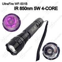 2015 ~ New WF-501B IR 850nm 5w 4-Core Infrared Portable Waterproof LED Flashlight Torch