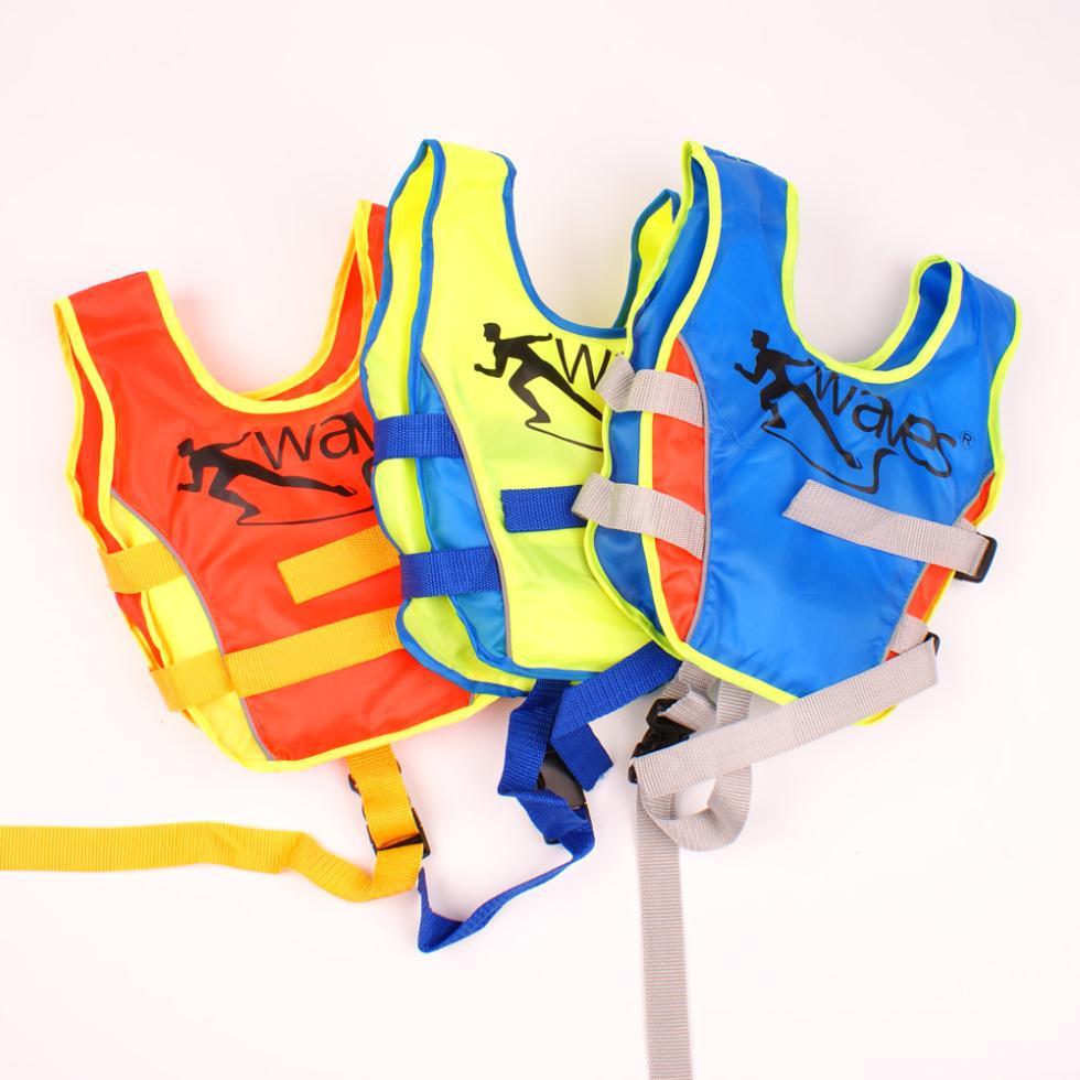 Baby Boy Swim Life Jackets for 1-3 Year Old Weight 20KG- Baby Swimming Jacket Buoyant Life Saver Vest Blue Yellow Orange(China (Mainland))