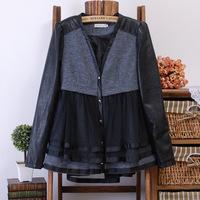 2014 leather clothing female short design slim coat PU leather jacket women/Free Shipping WT4057
