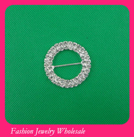 Double Round Rhinestone Buckle For Wedding Chair Covers Free Shipping
