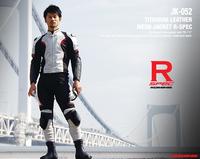 New arrival  JK-052 Titanium Leather Mesh Jacket R Spec motorcycle jacket summer jacket