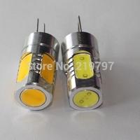 Droplight COB 5 LEDs G4 5W car door light DC12V 5W car bulb for chandelier Led Bulbs Crystal lights + 4pcs + Free ship