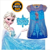 Frozen Dress Elsa & Anna Summer Dress For Girl 2014 New Hot Princess Dresses Brand Girls Dress Children Clothing Kids Wear
