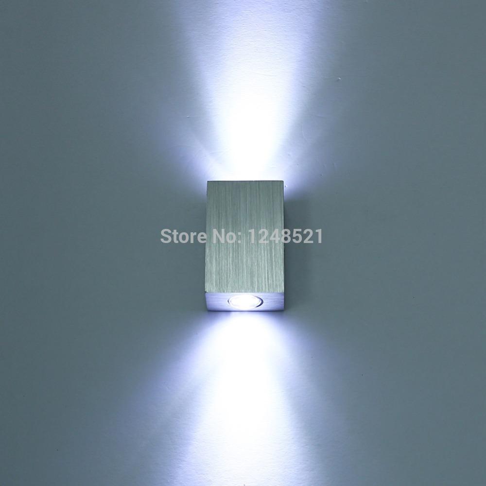Bedroom modern wall lights - High Quality 6w White Wall Light Ac85v 265v Hallway Livingroom Wall Lamp Up And Down Modern Bedroom Bathroom Decor Wall Lamps
