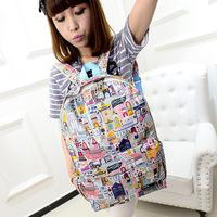 2014 new women backpack printing backpack school backpacks canvas backpack001
