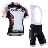 2014 New arrive Men's Outdoor sportswear GIANT bike jersey ciclismo Jersey top Cycling Clothing shirts +BIBs shorts Sets