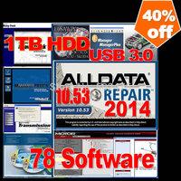Big promotion 43 software 2014 alldata+mitchell + ESI+ ATSG+ ETKA 7.4+Transmission+vivid+ELSA 4.1+BENZ EPC+WIS+ med& heavy truck