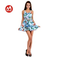 2014 new Europe and America sexy Pleated Dress