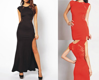 Hot Sexy Trendy Elegant Womens Slim Long Maxi Lace Gown Cocktail Party Dress