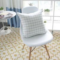 45CM Light Blue plaid cushion cover  check  pillow cover