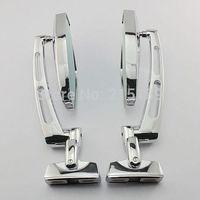 1 pair Black Chrome Adjustable Blue Glass Mirrors For Honda CBR 250R 2011-2012  600F4 1999-2000 600F4i 600RR 929RR 954RR