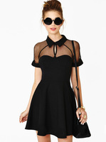 Women summer dress 2014 new fashion sale casual spring patchwork vintage lace sexy bandage novelty evening ladies dresses 4659