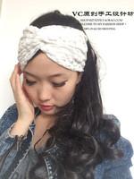 Womens Solid Wide Lace  Headband Lace Hair Band Twist Head Wraps Turban Bandanas
