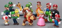 Free Shipping Plastic Super Mario Bros PVC Action figures Toys Dolls 18pcs/lot