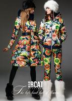 Free shipping EMS !!!  women long down brand jacket ,S-XXL,big size.fox fur collar, fancy luxury thickening long design