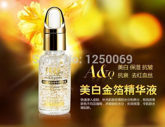 Super 24k reines gold-folie Essenz hyaluronsäure flüssige sahne bleaching feuchtigkeitsspendende Anti- Hautalterung Behandlung gesichtspflege creme