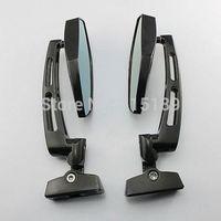 1 pair Black Chrome Adjustable Blue Glass Mirrors For yamaha honda Suzuki GSXR 600 750 1000 Hayabusa SV TL