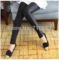 Spring Summer New Fashion Pants Women Black Side Stitching Leather Pants Flexible Leggings Cotton Pencil Trousers S M L XL XXL