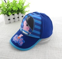 New 2014 Cartoon Kids Summer Baseball Caps Sum Hat baby for Boy kids Apparel Accessories Adjustable Cotton Embroidery H12