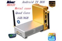 [MK820] pure metal shell quad-core Android TV BOX,media network TV BOX  WIFI,HD,bluetooth 4.0, RJ 45, AV OUT, XBMC free shipping