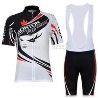 2012 Monton Women's Short Sleeve Cycling Jersey / Cycling Bib Shorts / Cycling Shorts / Women Cycling Clothing Free Shipping