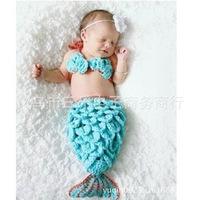 Manufacturers selling handmade mermaid bikini suit studio one hundred photo baby clothing props 150 g