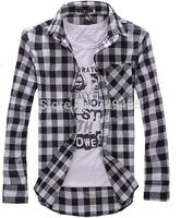 Free shipping,2013 new arrival,long sleeve plaid shirts for men,turn-down collar shirt,fashion slim style,drop shipping,I194