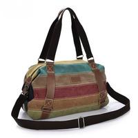 Free shipping 2014 Hot sale fashion Canvas handbag for women Restore cloth bag Multicolor patchwork shoulder bag Leisure Bags