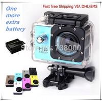 Fast free Shipping VIA DHL/EMS,Action Camera Diving 30M Waterproof Camera 1080P Full HD SJ4000 Underwater Sport Cameras Sport DV