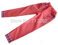 Dora children's 2014 spring clothing dora female child pants 100% cotton baby trousers child pants candy color