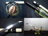 clay tempered sanmai blade battle ready japanese samurai katana phenix tsuba sharpened sword