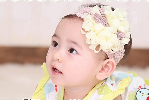 A nova banda de cabelo edição atacado Han de cabelo do bebê das crianças rendas fabricantes de pneus que vendem produtos de comércio exterior(China (Mainland))