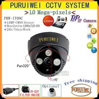 100% Original 1280x720 HD 1.0 Mega pixel 3pcs Array leds IP Dome Camera ONVIF 2.0 indoor IR CUT Night Vision P2P Plug and Play!