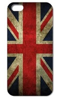 1PCS  Unique Retro UK National Flag hard back cover case for iphone 4 4s/5  free shipping
