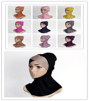 Free shipping Mix colors Fashion Cotton Inner ninja scarf; islam inner HIJAB/scarf;MUSLIM UNDERSCAR, IN5006