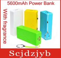 125set/lot Universal 5600mAh USB External Backup Battery Power Bank + 4 in 1 Micro usb cable Retail box Perfume 2th free fedex