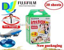 (New) Fujifilm Instax Mini Film 2 pack (20 sheets) white Edge polaroid Instant Photo Camera mini 7S 8 25 50S 90s Film