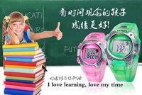 300pcs/lot Student Dress Digital Watch 5 Colors Multi Function Children Outdoor Sport Watches Luminous Alarm Calendar Wristwatch
