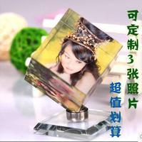 free shipping Crystal customize diy swing sets crystal magic cube rotating