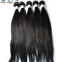 unprocessed mongolian virgin remy hair straight  human hair 1b# bundles 2pcs/lot mixed sunlight new star queen beauty products
