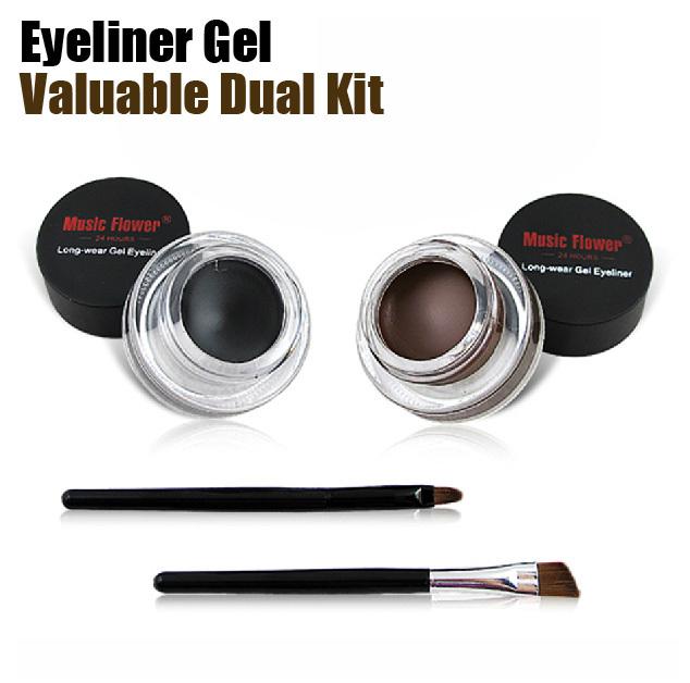 Color black+brown conjunto la fórmula sin aceite mirada definida de