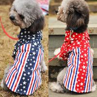Puppy  pet dog star shirt American flag print  shirt,Summer Clothes For Dog Cat ,Pet Product