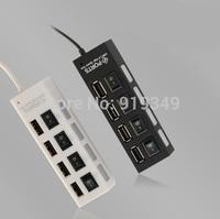 High Speed 4 PORT Switch Power USB 2.0 HUB Extension Splitter Adapter Extender DATA SYNC ON OFF
