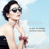 vintage mirror retro sunglasses women brand designer 2014 luxury with box  original girls eyewear sun glasses  -CD