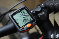 New LED Display Calorie Consumption Bike Bicycle Cycling Computer 24 Functions Odometer Speedometer with Speed Sensor Waterproof