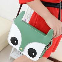 2014 Spring New Fashion Women Ladies Retro Shoulder Bag Ladies Messenger Bags Cute School Tote Owl PU Fox Bag Handbags