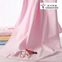 100% cotton bath towel cutting line jacquard embroidered cartoon three-color