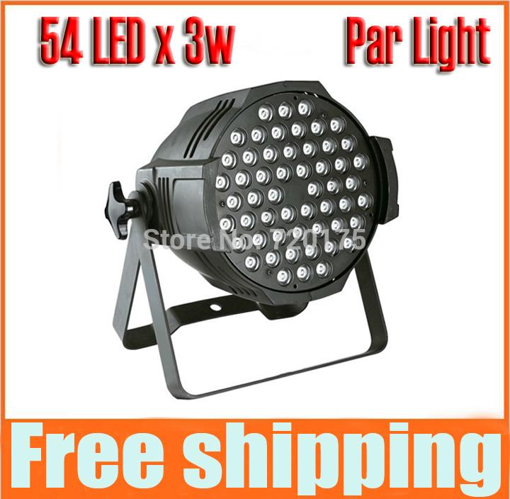 2014 New LED Par Light DMX Controller 54 * 3W LED Par Light stage lighting wedding performances led lamps DJ equipment Free ship(China (Mainland))